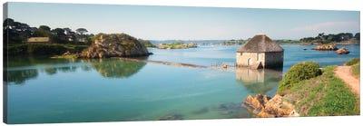 Panoramic View Of Birlot Sea Mill On Brehat Canvas Art Print