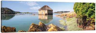 Old Sea Mill Of Brehat Island In Brittany Canvas Art Print