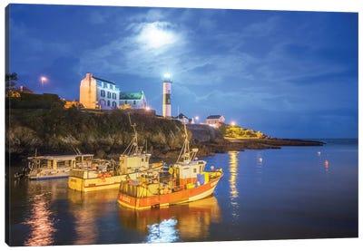 Night Harbor Canvas Art Print