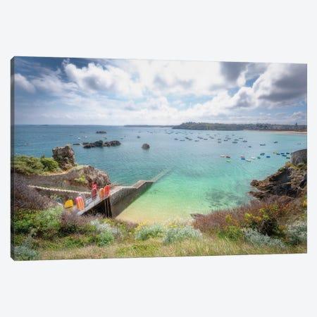 Saint Lunaire Seascape Canvas Print #PHM482} by Philippe Manguin Canvas Wall Art