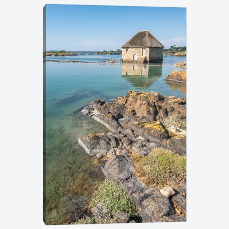 Birlot Sea Mill On Brehat Island In Brittany Canvas Print #PHM483} by Philippe Manguin Canvas Artwork