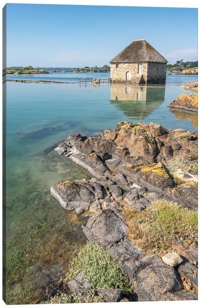 Birlot Sea Mill On Brehat Island In Brittany Canvas Art Print
