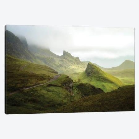 A Walk In The Quiraing On Skye Island - Scotland Canvas Print #PHM485} by Philippe Manguin Canvas Print