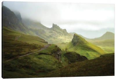 A Walk In The Quiraing On Skye Island - Scotland Canvas Art Print