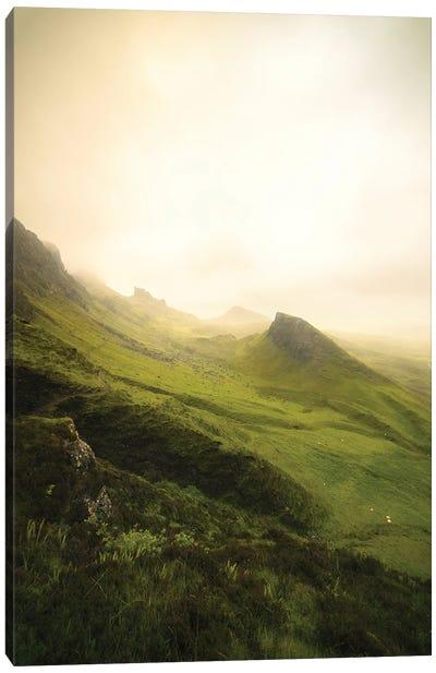 The Quiraing On Skye Island, Vertical View Canvas Art Print