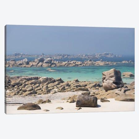 Sunny Rocky Beach Canvas Print #PHM491} by Philippe Manguin Canvas Print