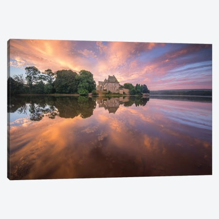 Abbaye De Paimpont in Broceliande Canvas Print #PHM4} by Philippe Manguin Canvas Wall Art