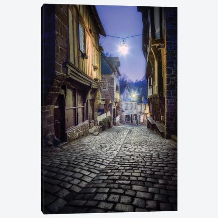 Dinan Old Jerzual Street Canvas Print #PHM50} by Philippe Manguin Canvas Wall Art