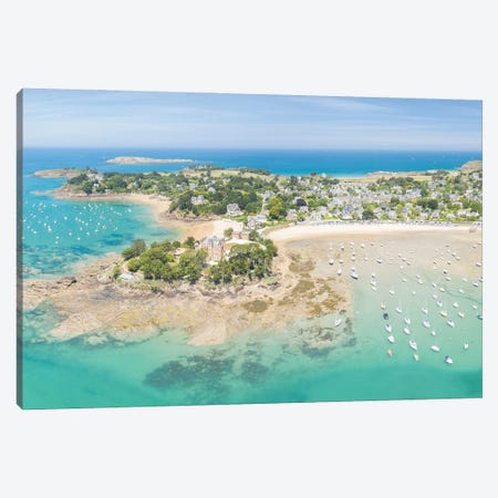 Saint Briac In Brittany, Aerial Panoramic Canvas Print #PHM510} by Philippe Manguin Canvas Artwork