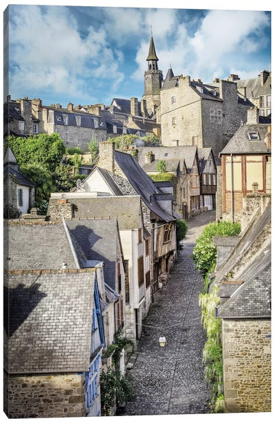 Dinan, The Famous Jerzual Street Canvas Art Print