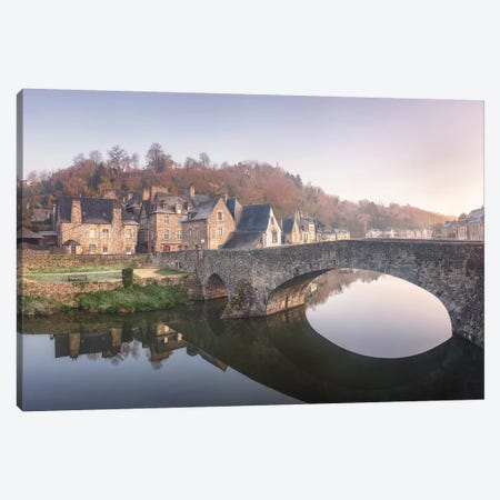 Dinan, The Old Bridge. Canvas Print #PHM54} by Philippe Manguin Art Print