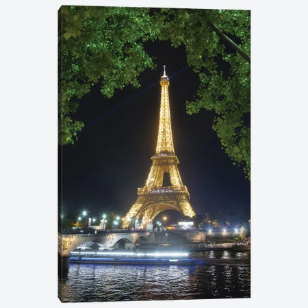 Eiffel Tower At Night Canvas Print #PHM62} by Philippe Manguin Canvas Art Print