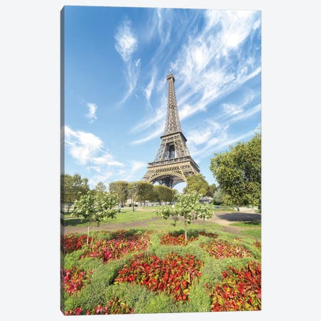 Eiffel Tower Colored Garden Canvas Print #PHM63} by Philippe Manguin Art Print