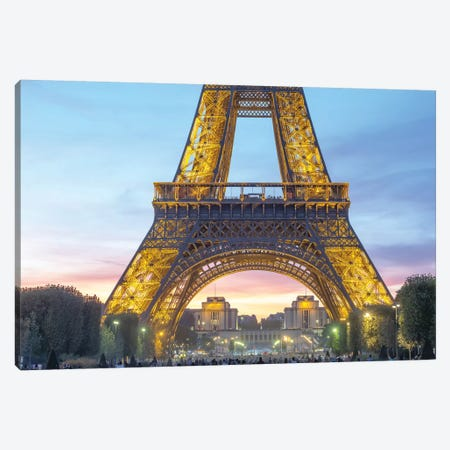 Eiffel Tower Focus Canvas Print #PHM64} by Philippe Manguin Canvas Artwork