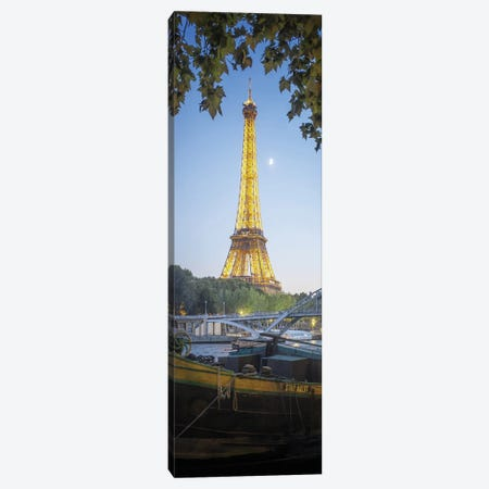 Eiffel Tower Green Nature In Paris Canvas Print #PHM66} by Philippe Manguin Canvas Wall Art