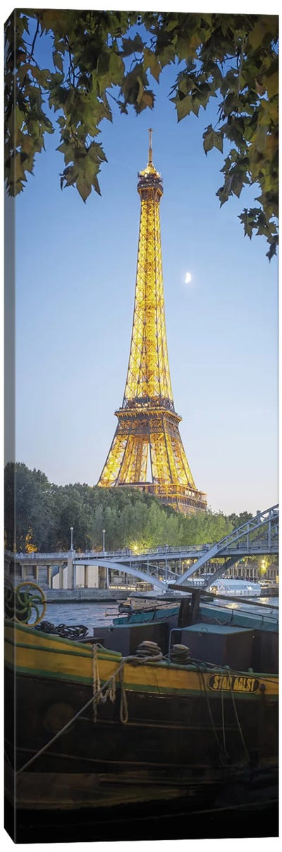 Eiffel Tower Green Nature In Paris Canvas Art Print