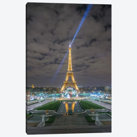 Eiffel Tower In Paris - View From The Trocadero Canvas Print #PHM67} by Philippe Manguin Canvas Artwork