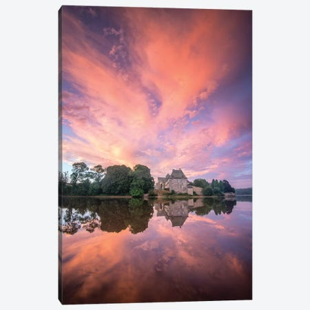 Abbaye De Paimpont In Broceliande III Canvas Print #PHM6} by Philippe Manguin Canvas Artwork
