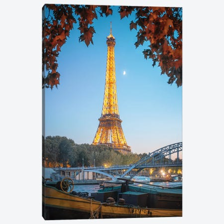 Eiffel Tower Red Nature In Paris Canvas Print #PHM70} by Philippe Manguin Canvas Wall Art