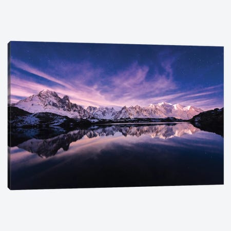 French Alpes - Lac Des Cheserys 3-Piece Canvas #PHM83} by Philippe Manguin Art Print