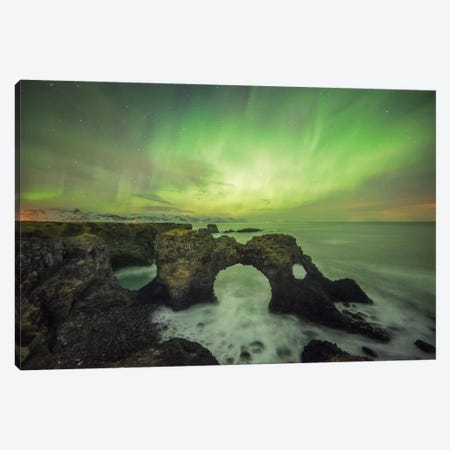 Gatklettur Arch In Iceland Canvas Print #PHM89} by Philippe Manguin Art Print