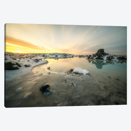 Iceland Blue Lagoon Canvas Print #PHM98} by Philippe Manguin Canvas Art
