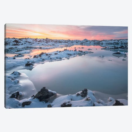Iceland Blue Lagoon Wall Art Canvas Print #PHM99} by Philippe Manguin Canvas Wall Art