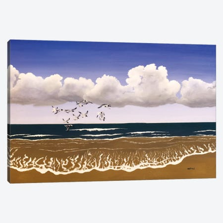 Carolina Shore Canvas Print #PHS13} by Paul Hastings Canvas Artwork