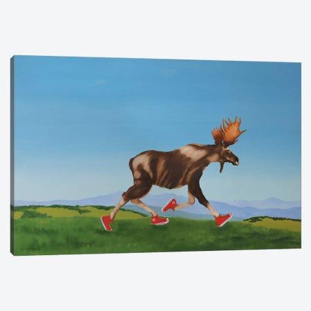 Chuck On The Run Canvas Print #PHS14} by Paul Hastings Art Print