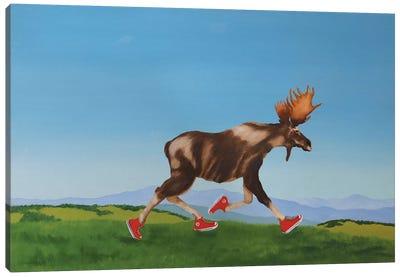 Chuck On The Run Canvas Art Print