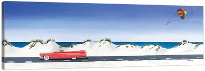 Pink Cadillac Canvas Art Print