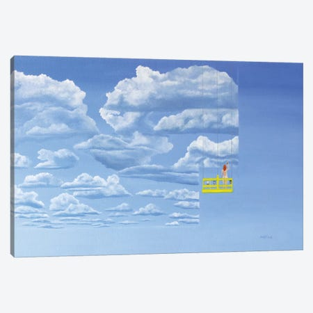 Samantha Paints The Sky Canvas Print #PHS38} by Paul Hastings Canvas Art