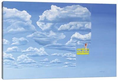 Samantha Paints The Sky Canvas Art Print