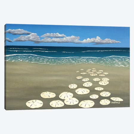 Ann's Sand Dollars Canvas Print #PHS9} by Paul Hastings Canvas Artwork