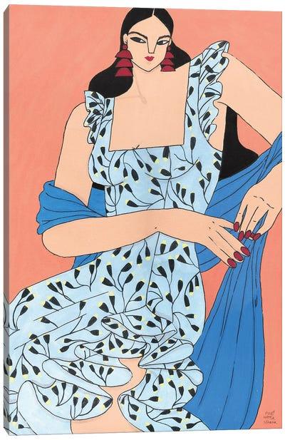 Maria Ana In Blue Canvas Art Print