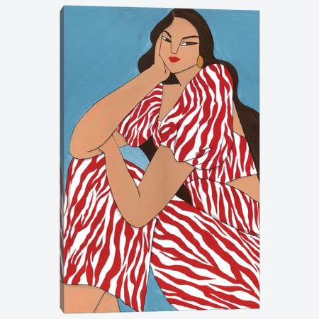 Maria Ana In Zebra Canvas Print #PHT24} by Ping Hatta Canvas Print