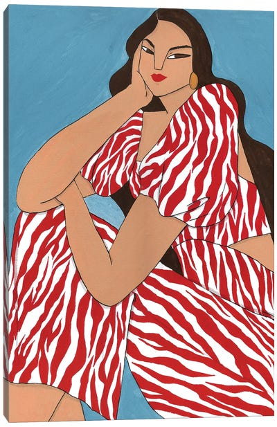 Maria Ana In Zebra Canvas Art Print