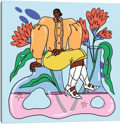 Aquarius In Fendi Canvas Art Print
