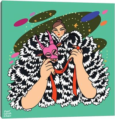 Capricorn In Marc Jacobs Canvas Art Print