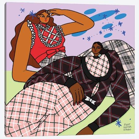Gemini In Miu Miu Canvas Print #PHT59} by Ping Hatta Canvas Art Print