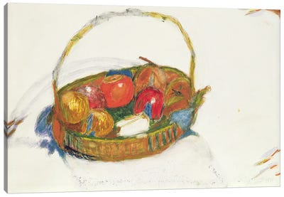 Basket Of Fruit, 1930 Canvas Art Print