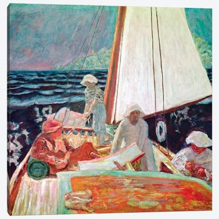 Signac And His Friends Sailing, 1924-25 Canvas Print #PIB110} by Pierre Bonnard Canvas Art