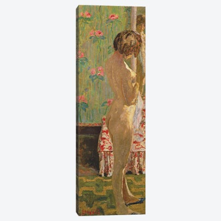 Standing Female Nude Canvas Print #PIB116} by Pierre Bonnard Art Print