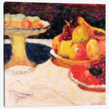 Still Life With A Fruit Bowl, 1933 Canvas Print #PIB119} by Pierre Bonnard Canvas Artwork