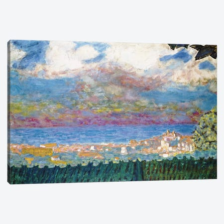 Stormy Sky Over Cannes, 1945 Canvas Print #PIB122} by Pierre Bonnard Art Print
