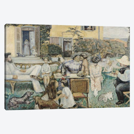 The Bourgeois Afternoon, Or The Terrasse Family, 1900 Canvas Print #PIB134} by Pierre Bonnard Art Print