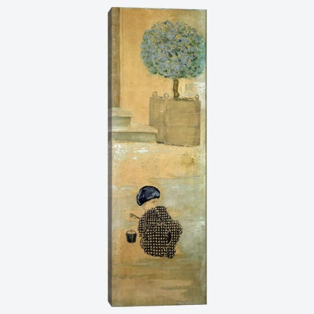 The Child With A Sandcastle, Or The Child With A Bucket, 1894 Canvas Print #PIB142} by Pierre Bonnard Canvas Print