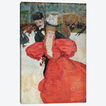 The Ice Rink Or The Skaters, C.1896-98 Canvas Print #PIB153} by Pierre Bonnard Canvas Art