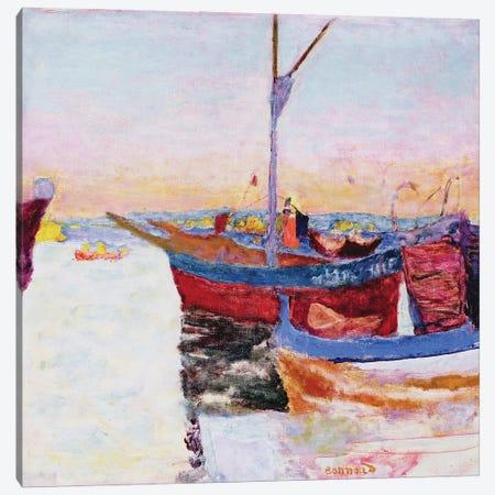 Boats At Cannes, Dusk, 1924 Canvas Print #PIB15} by Pierre Bonnard Canvas Print