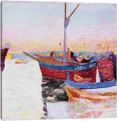 Boats At Cannes, Dusk, 1924 Canvas Art Print